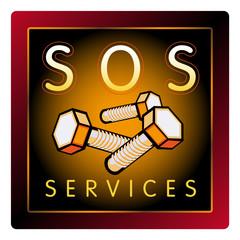 SOS, service, vis, quincaillerie, réparateur, artisan, bricolage