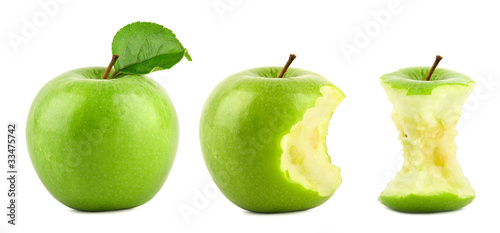 Green apple row