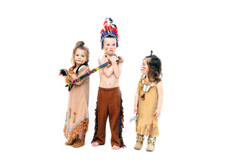 Adorable Costumed Indians