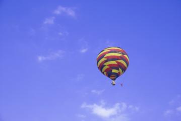 Colorful balloons rising up