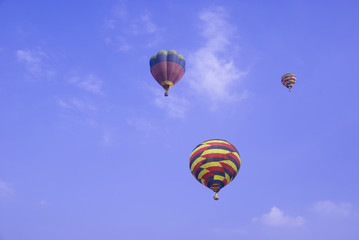 balloons rising up