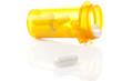 A yellow pill bottle