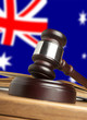 Gavel  and Flag of Australia