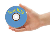 Hand with disk Backup poster