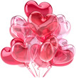 Party balloons birthday Love hearts cute decoration pink red