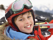 Pre-teen Boy On Ski Vacation