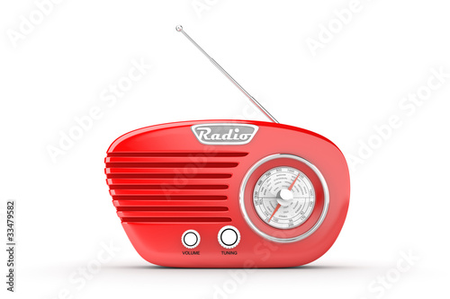 canvas print picture Retro Radio