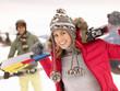 Young Couple On Ski Vacation