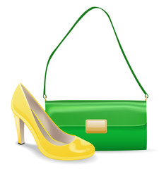 Women accessories  bag and shoe.