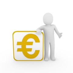 3d man euro gold cube