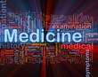 Medicine health background concept glowing