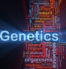 Genetics dna background concept glowing