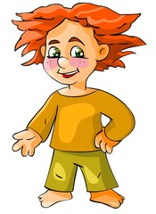 Cartoon red-haired boy