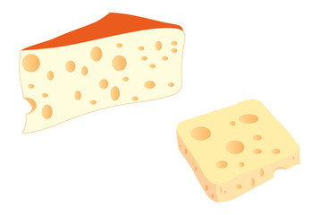French cheese slices