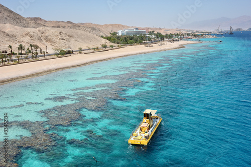 Red sea coast and coral reef