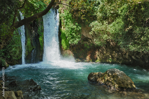 Papiers peints Cascades Waterfall in the Banias Nature Reserve