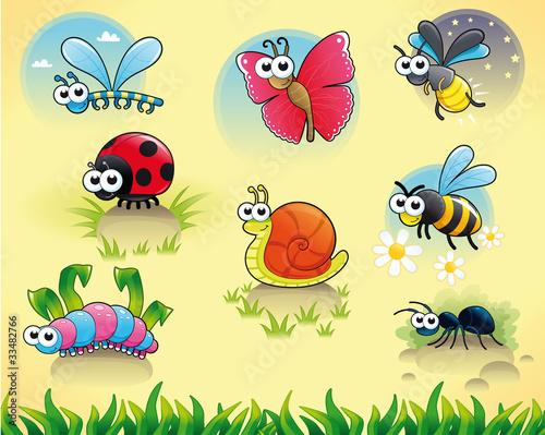 彩色卡通蜗牛