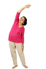 Mature woman daily exercise, see more images in series