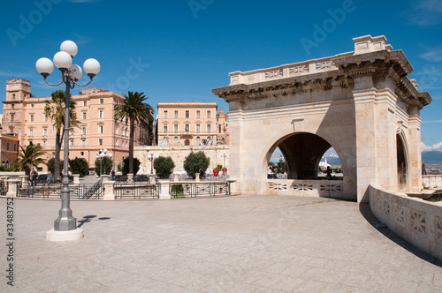 Sardynia, Włochy: Cagliari: Wał obronny S. Remy