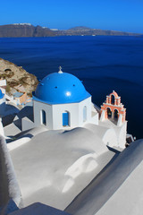 Church in Oia Santorini Greece