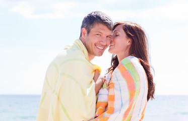 summer couple on the beach