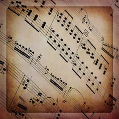 Spartito musicale con cornice
