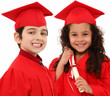 Kindergarten Graduation Boy Girl Children Interacial