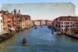 Canal Grande di Venezia su texture retro