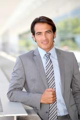 Portrait of salesman in business travel