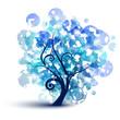Albero astratto blu - Blue tree