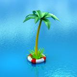 safe tropical adventure poster
