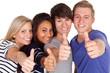 gruppe motivierter junger leute