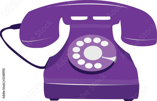 Retro Purple Phone Purple Retro Phone Stock