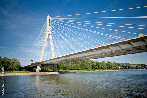 Modern bridge over river|33490510