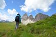 Wandern Gröden Sellapass - Langkofel