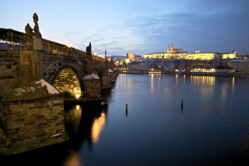 Charles Bridge and Prague Castle.