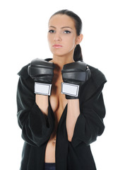 beautiful young woman the boxer