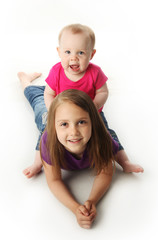 Baby sister and big sister