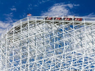 Thrill Seekers Exciting Rollercoaster Ride