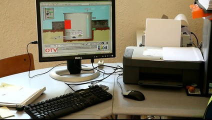 Компьютер управления на очистных сооружениях.