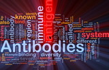 Antibodies immunity background concept glowing poster