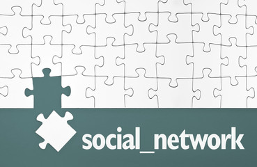 Puzzle mit social network