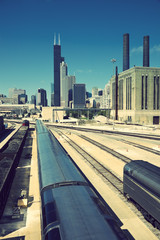 Train in Chicago