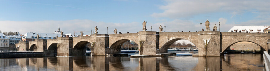 old stone bridge in Wuerzburg Germany