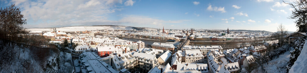 winter pano of Wuerzburg Germany