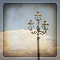 Lampione su texture retro