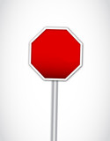 Isolated empty stop sign