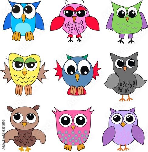 Tuinposter Vogels, bijen owls