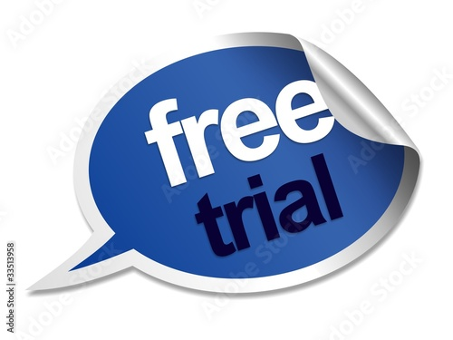 Free trial speech bubble