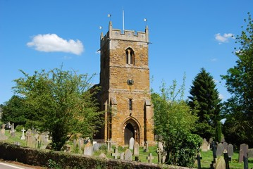 Village church and cemetery, Great Britain